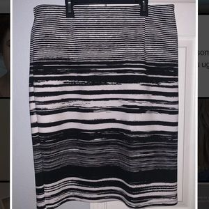 Cato striped skirt